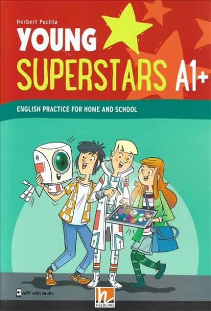 Puchta Herbert Young Superstars A1+. English Practice for Home and School (plus APP with Audio)