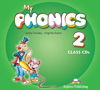 Virginia Evans, Jenny Dooley My Phonics 2 Class CD (set of 2) (International). Аудио CD для работы в классе (2 шт).
