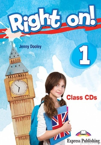 Jenny Dooley Right on! 1. Class CDs (set of 3) (international). Аудио CD для работы в классе
