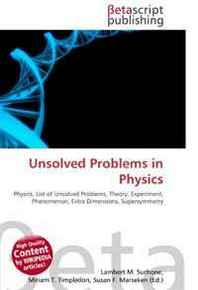 list of unsolved problems in chemistry General comment general comment: wiki would benefit if each unsolved problem in chemistry is accompanied by its own article currently only 5 out of 10 problems listed have an article associated with it.
