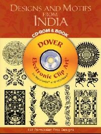 Обложка книги Designs and Motifs from India CD-ROM and Book (Dover Electronic Clip Art)