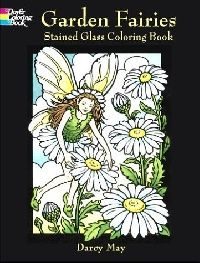 Обложка книги Garden Fairies Stained Glass Coloring Book