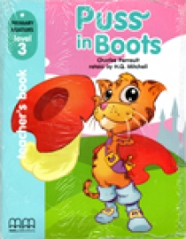Primary Reader Level 3 Puss in Boots, Teacher's Book With Audio CD