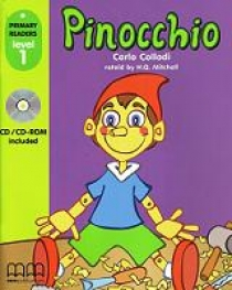 Carlo C. Primary Reader Level 1 Pinocchio With Audio CD