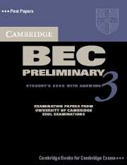 Cambridge BEC (business english course) Preliminary 3 Student's Book with answers