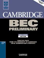 Cambridge BEC (business english course) Preliminary 1 Student's Book with answers