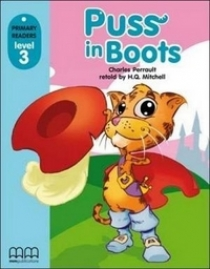 Primary Reader Level 3 Puss in Boots, Book With Audio CD